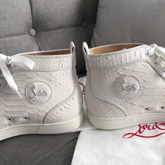 5d387bd29c6 NEW Men's Louboutin Python Sneakers